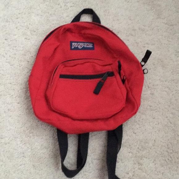 Jansport Handbags - Jansport red half pint mini backpack purse bag 72e66151ef258